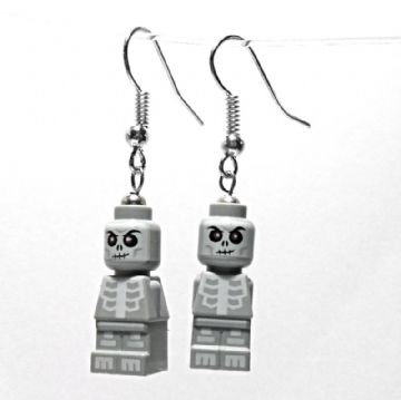 Ninjago Skeleton Micro-figure Drop Earrings